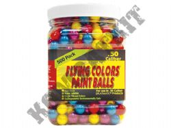 Splatmatic Flying Colour Paintballs 500 x .50 Calibre in Tub